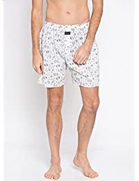Nick & Jess Mens White Space Print Cotton Boxer Shorts