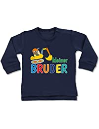 Shirtracer Geschwisterliebe Baby - Kleiner Bruder Bagger - Baby Pullover