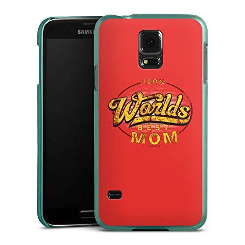 DeinDesign Hülle kompatibel mit Samsung Galaxy S5 Handyhülle Case Worlds Best Mom Muttertag Mama