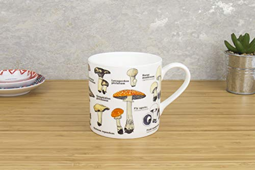 Bone China Mug;Fantastic gift;From our best selling Ecologies range;Beautifully crafted;Variety of mushroom images