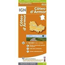 D22 COTES- D'ARMOR  1/150.000