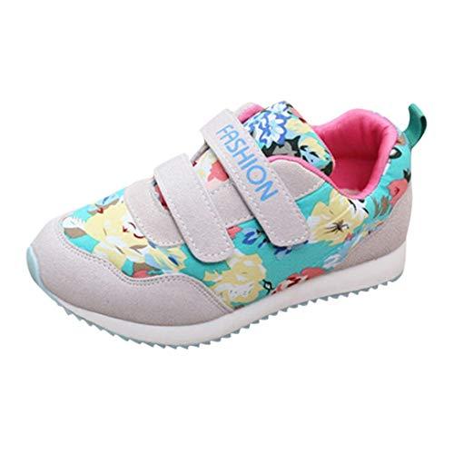 GongzhuMM Imprimé Multicolore Chaussure Bebe Fille Chaussures de Skate Sneakers Filles Baskets Chaussures de Course Chaussure Bebe Hiver 4-10 Ans