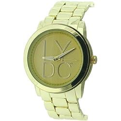 Lydc Women'- Armbanduhr Analog Quarz Gold Armband LYDC50/D