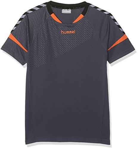Hummel Mädchen Auth Charge SS Train Jersey T-Shirt, Ombre Blue/Nasturtium, 140-152