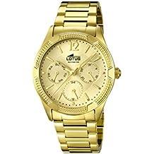 Reloj lotus oro mujer piel