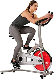 Sunny Health & Fitness Unisex Adult SF-B1203 Indoor Cycling Bike - Silver, One
