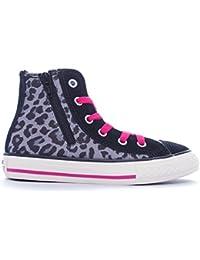 Converse Chuck Taylor Hi Side Zip Textile/Suede Print Niñas, Suecia, Sneaker High