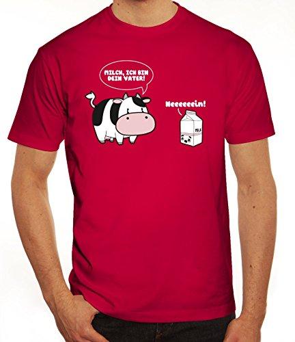 Lustiges Herren T-Shirt mit Milch - Ich bin Dein Vater Motiv von ShirtStreet Sorbet