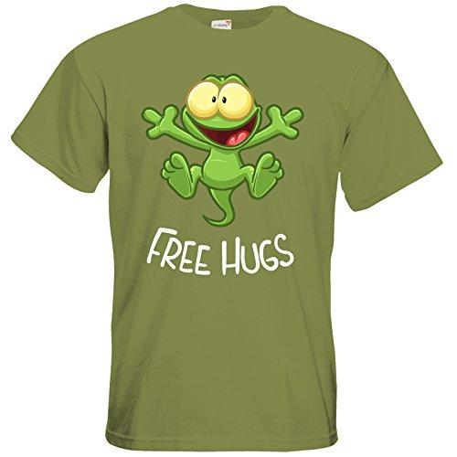 getshirts - Gronkh Official Merchandising - T-Shirt - FreeHugs Green Moss