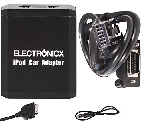 Electronicx Elec-M05-RD4 Adaptador de Musica Digital para Coche AUX, Compatible con iPhone,...