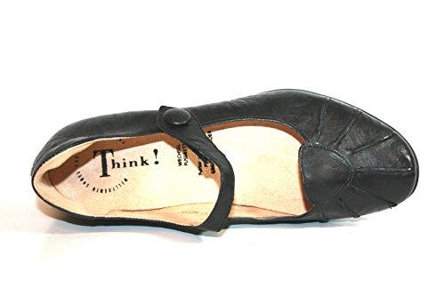 Think! , Coupe fermées femme Noir - Noir (00)