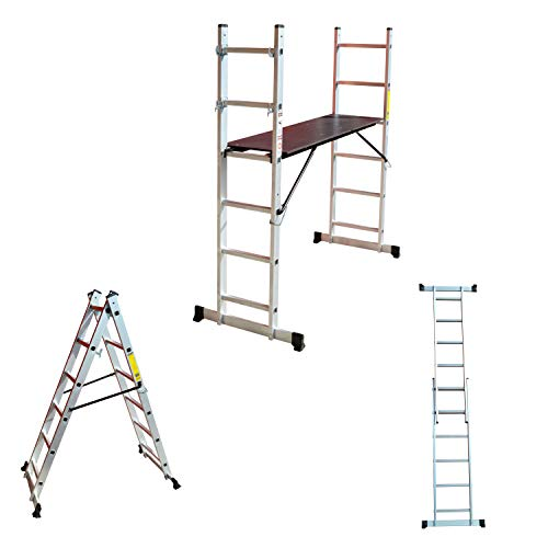 Aluminio Multi Andamio multifunción Escalera escalera escalera–Escalera Plataforma