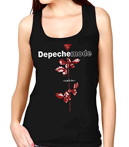 35mm - Camiseta Mujer Tirantes - Depeche Mode - Violator - Women's Tank Top, Negra, XXL