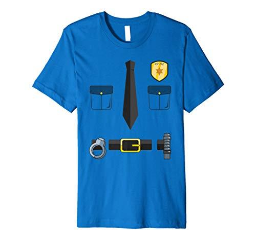 Halloween Police Krawatte, Handschellen, & Gürtel T-Shirt