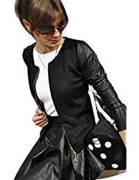 ZKOO Mujeres Casual Manga Larga Outwear Puntadas Color Sólido Jacket Outwear