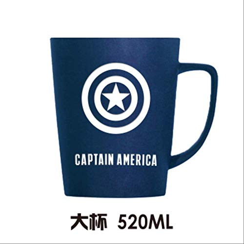 JU DA Tasse 1 Pc Mode Super Hero Iron Mann Und Captain America Spiderman Keramik Tassen Kreative Deadpool Hulk Becher Cartoon Die Avengers Cup groß