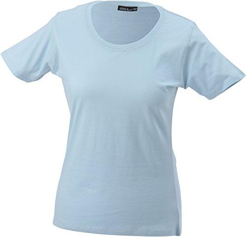 James & Nicholson Damen T-Shirt Workwear-t Women Blau (Light-Blue)