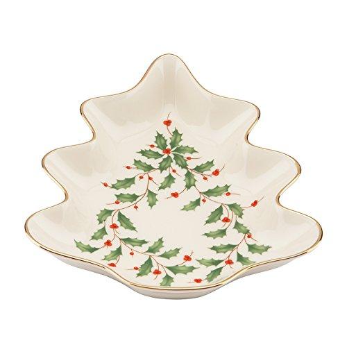 Lenox Holiday Tree Candy Dish,Ivory Candy Lenox