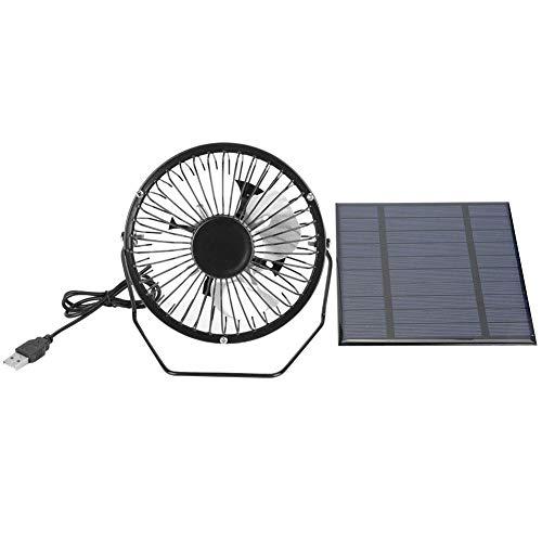 Alomejor Mini Fan Solar Panel Powered USB Lüfter Green Energy 2.5W Kühlung Lüftung für Reisen