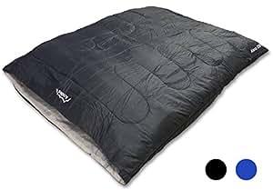 Andes Alma 250 2 Season Double Camping Sleeping Bag Black
