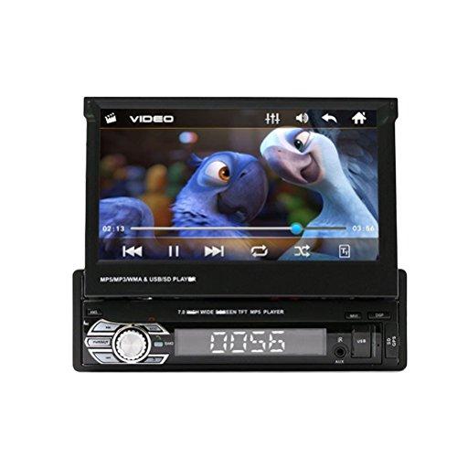 WINOMO Single DIN in Dash Car Stereo mit 7Zoll Flip Out HD Touchscreen Monitor Car MP5/MP3Player FM AM Bluetooth Car Audio Video-Receiver mit Navigation GPS Camera mit Vista hinten (Flip-autoradio)