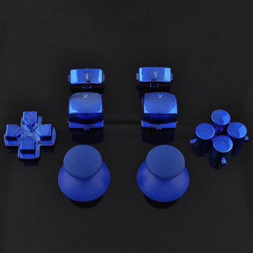 Sticks und Tasten Set/Mod Kit passend für PS3® Controller - chrom blau - Controller Ps3 Teile-kit