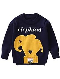 K-youth Jersey de Punto para Niños Suéter Chicas Chicos Navidad Ropa Bebé Niña Invierno Ropa De Punto Elefante Camiseta de Manga Larga para Niñas Jersey Tops de Otoño 1 a 4 Años