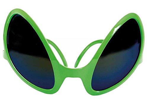 FASCHING 50366 Alien-Brille Sonnenbrille grün (Sonnenbrille Alien)