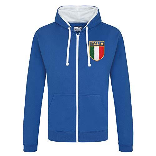 Print Me A Shirt Sweat à Capuche zippé pour Homme Style rétro Italie - - 102 cm/M