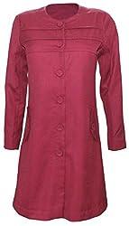 Attuendo Women's Wool Blend Long Coat (Large)