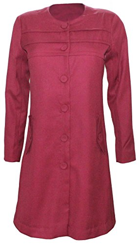Attuendo Frauen-Wollmischung Langer Mantel (X-Large (EU Size:42))
