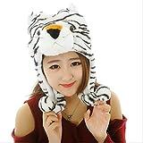 LAAT Sombrero Gorro de Animal con Cubierta de Oreja Accesorios de Cosply Disfraz para Mujer y Niños Gorro de Invierno (Tigre)