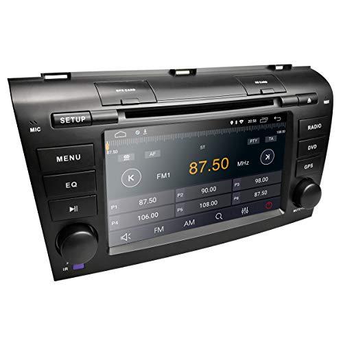 Androider 8.1 Viererkabel-Kern 7 Zoll Doppeltes im Schlag-HD Screen-Auto DVD-Spieler GPS-Navigations-Stereolithographie für Mazda 3 2004-2008 und 2009 stützen Sie Navi Bluetooth SD USB FM AM WiFi (Mazda 3 2007-radio)