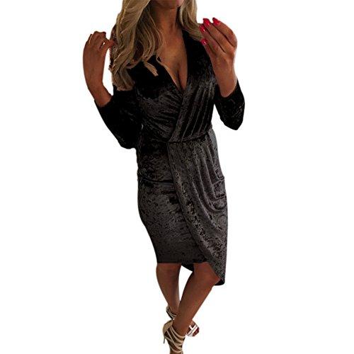 Moresave - Robe - Cocktail - Uni - Femme Noir