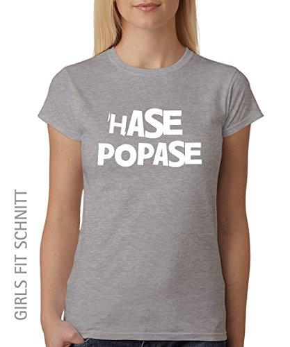 ::: HASE POPASE ::: Girls T-Shirt, Sports Grey/weisser Aufdruck, Größe XXL (Weiß Bunny Girl Kostüm)