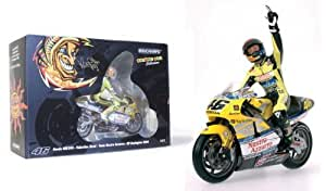 Minichamps 1/12 Scale Die-Cast Collectors Motorbike and Riding Figurine Set 122 006196