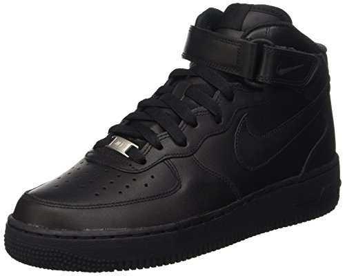Nike Wmns Air Force 1 '07 Mid, Scarpe da Ginnastica Donna Nero