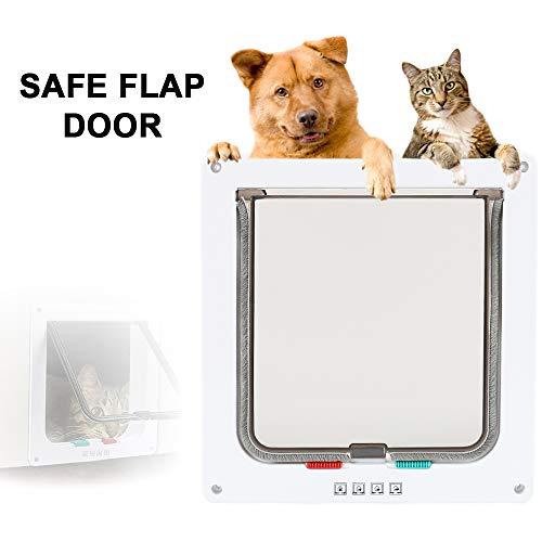 ZhongYe Katzentür Haustierklappe Hundeklappe mit Chip für Große und Kleine Katzen Hunde (Large)
