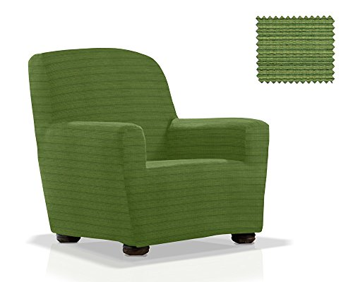 JM Textil Copripoltrona con Orecchie Moraig Dimensione 1 Posto (da 70 a 110 Cm.), Colore Verde (Vari Colori Disponibili.)