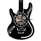 Reloj de pared, Estilo de Guitarra electrónica, Vintage Reloj, 30 x 30 x 4 cm