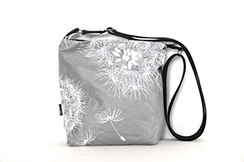 small-zip-top-cross-body-bag-in-showerproof-teflon-coated-retro-grey-dandelion-fabric-with-upcycled-