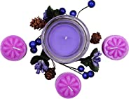 Bavla Diwali Decoration 4 Pc. Designer Floating Candle Set with Dry Flower Garland