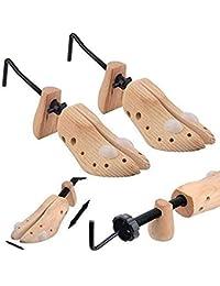 2 extensores de zapatos de madera, para hombre, para evitar ampollas, llagas y