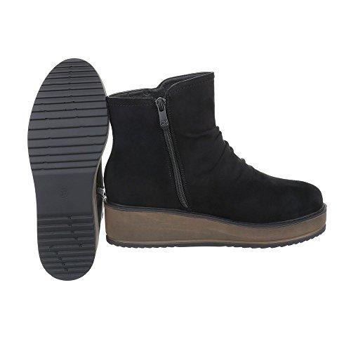 Ital-Design - Pantofole a Stivaletto Donna , grigio (grigio argento), 38
