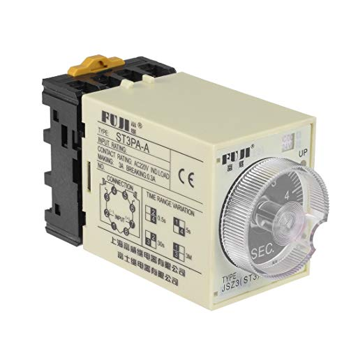 ZCHXD 24VAC/DC 5S 8 Terminals Range Adjustable Delay Timer Time Relay ST3PA-A with Base - Time-delay-schaltungen