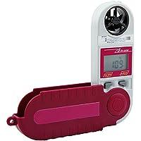 YMXLJJ Pliable Anémomètre numérique Multi-Mode Mesure de la Vitesse du Vent, Température, humidité, Pression, Altitude Jauge de Trépied Portable Amovible en Rouge