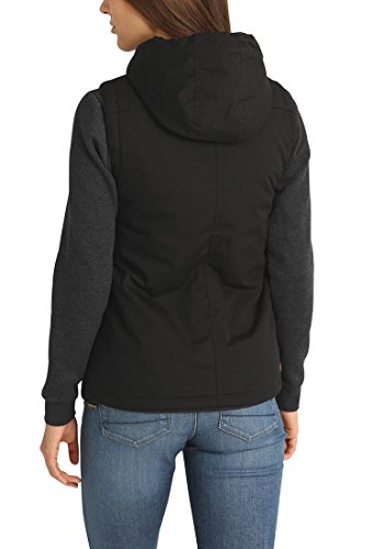 DESIRES Tilda Damen Weste Übergangsweste mit Kapuze aus hochwertigem Material Black (9000)
