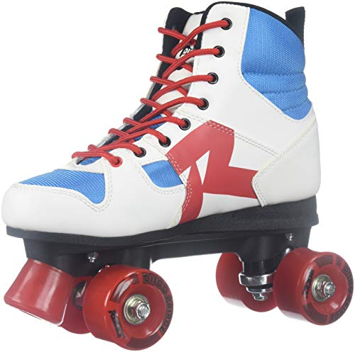 Roces Disco Palace Rollerskates 550039 (White/Blue/Red) Gr. 36 (UK 3)