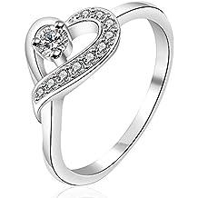 6e9036d04713 Anillo de compromiso con forma de corazón y diamante