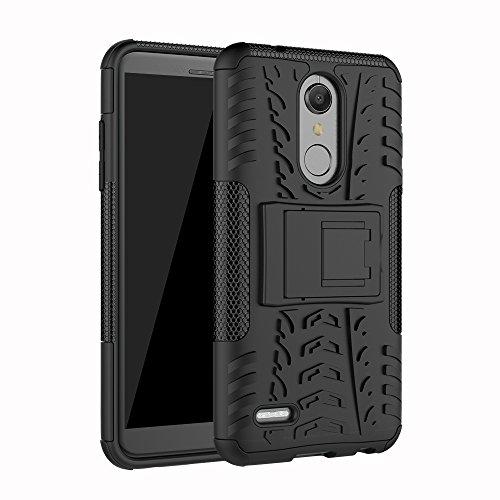 OFU® für LG K10 (2018) Handyhülle, für LG K10 (2018) Hülle,für LG K10 (2018) Telefonkasten Shockproof (für LG K10 (2018) schwarz)